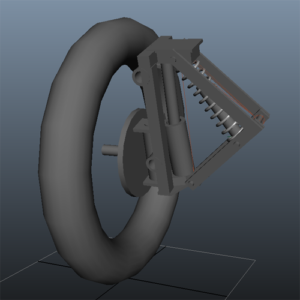 Front suspension design for a Free To Caster tilting reverse