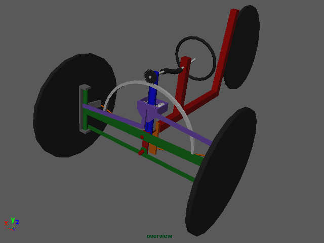 Simple transition tilting trike