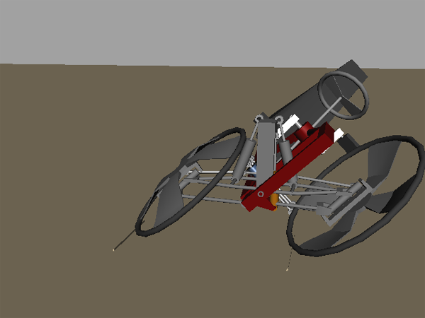 First prototype design of leaning reverse trike